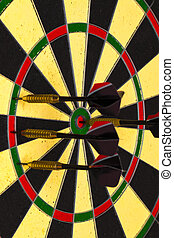 ヒッティング, 概念, ターゲット, 成功, 目標, 背景, 達成, ゴール