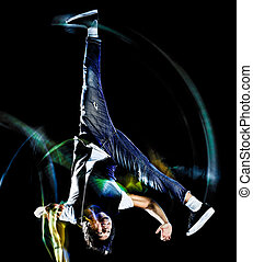 ヒップ, ダンス, ダンサー, 隔離された, 若い, 壊れなさい, breakdancing, ホツプ, breakdancer, 人