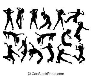 ヒップ, 楽しみ, ダンサー, ホツプ, 涼しい