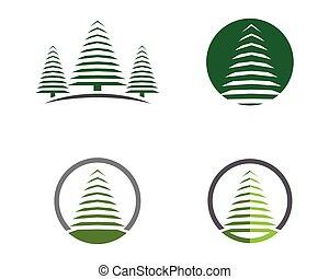 ヒマラヤスギの 木, テンプレート, ロゴ
