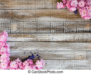 ヒヤシンス, ブドウ, 花, さくらんぼ, フレーム, 2, 木, 赤