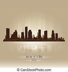ヒューストンスカイライン, シルエット, テキサス, 都市
