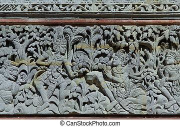 ヒンズー教信徒, インドネシア, フレスコ画, バリ, 複合センター, 寺院