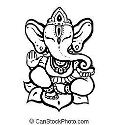 ヒンズー教信徒, ganesha, 神