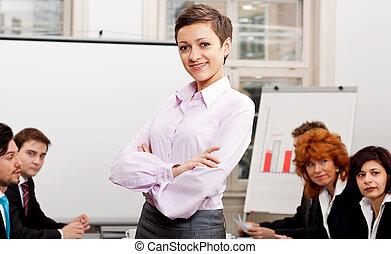 ビジネスが会合する, ∥において∥, オフィス, ∥で∥, グループ, チーム