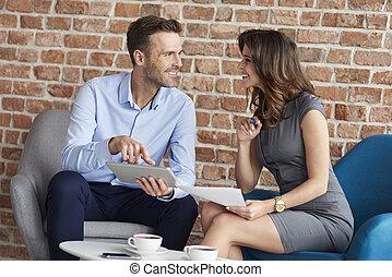ビジネスが会合する, の, 2, ビジネス 人々