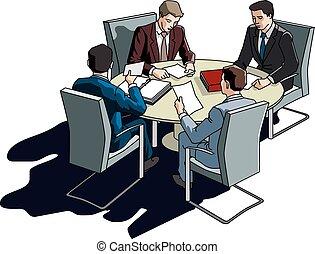 ビジネスが会合する