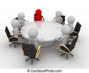 ビジネスが会合する, 概念
