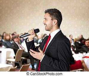ビジネスの会議