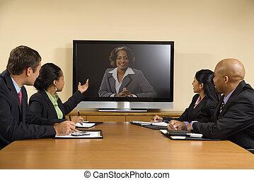 ビジネスの会議, meeting.