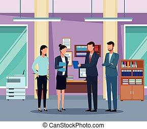 ビジネスオフィス, 人々