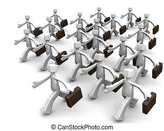 ビジネスマンランニング, 概念, リーダーシップ, 時間