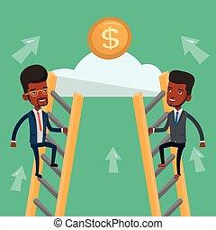 ビジネスマン, お金。, 2, 競争