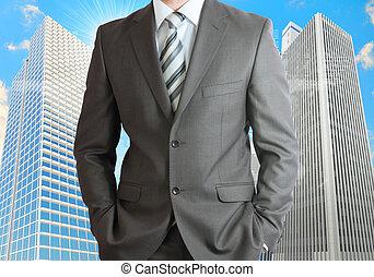 ビジネスマン, ∥で∥, 超高層ビル