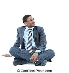 ビジネスマン, アフロ - american, 弛緩