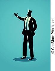 ビジネスマン, ジェスチャーで表現する, 手