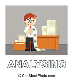 ビジネスマン, スタイル, 分析, 写真, テキスト