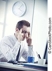 ビジネスマン, ストレスを感じさせられた