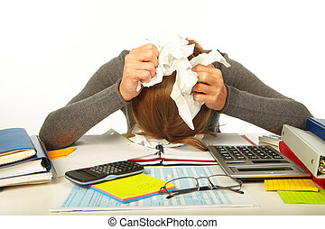 ビジネスマン, ストレス, 持つこと