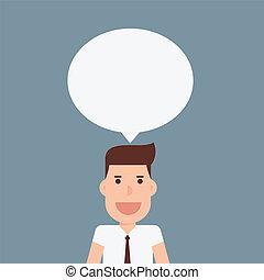 ビジネスマン, スピーチ泡