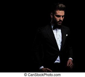 ビジネスマン, タキシード, 手, 黒, 1(人・つ), 地位, 身に着けていること, ポケット