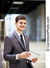 ビジネスマン, タブレットの pc