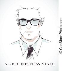ビジネスマン, ファッション, 肖像画
