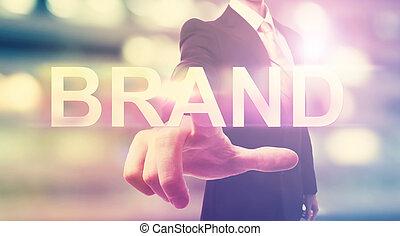 ビジネスマン, ブランド, 指すこと
