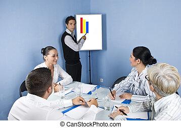 ビジネスマン, プレゼンテーション, ∥において∥, ビジネスが会合する