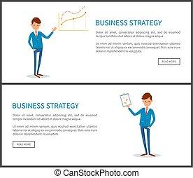 ビジネスマン, プレゼンテーション, ビジネス戦略
