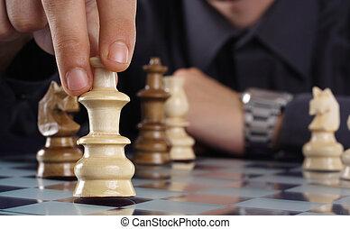ビジネスマン, プレーのチェス