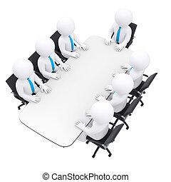 ビジネスマン, モデル, テーブル