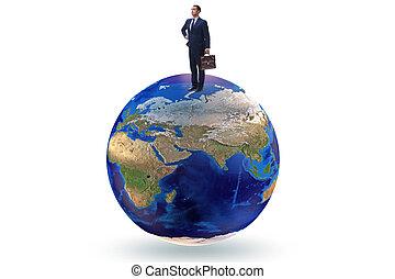 ビジネスマン, 上, 世界