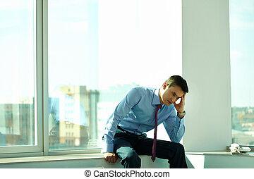 ビジネスマン, 中に, オフィス