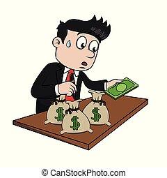ビジネスマン, 保有物の お金