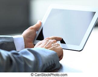 ビジネスマン, 保有物, デジタルタブレット