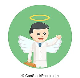 ビジネスマン, 円, 天使, 背景