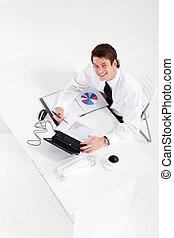 ビジネスマン, 労働者のオフィス