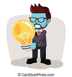 ビジネスマン, 巨人, 保有物, 電球