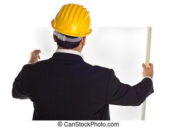 ビジネスマン, 建設, ヘルメット