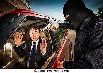 ビジネスマン, 強盗