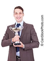 ビジネスマン, 彼の, 保有物, 賞, 勝利