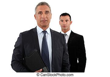 ビジネスマン, 彼の, 助手