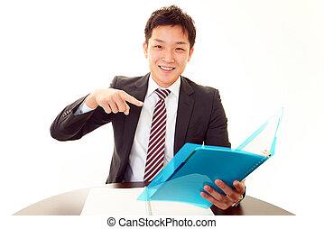 ビジネスマン, 微笑
