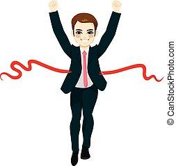ビジネスマン, 成功, 勝者, 概念