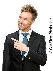 ビジネスマン, 指を 指すこと, ジェスチャー
