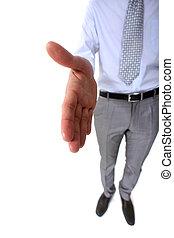 ビジネスマン, 提供, shake-hand