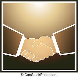ビジネスマン, 握手