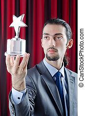 ビジネスマン, 星, 賞, 与えられる