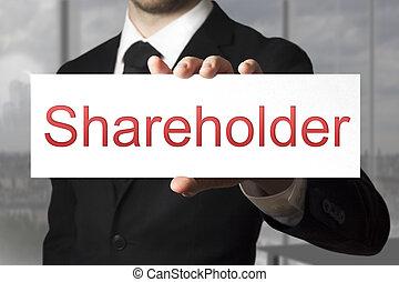 ビジネスマン, 株主, 保有物, 印